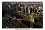Aerial Photography of Octavio Frias de Oliveira Bridge, Sao Paulo, Brazil